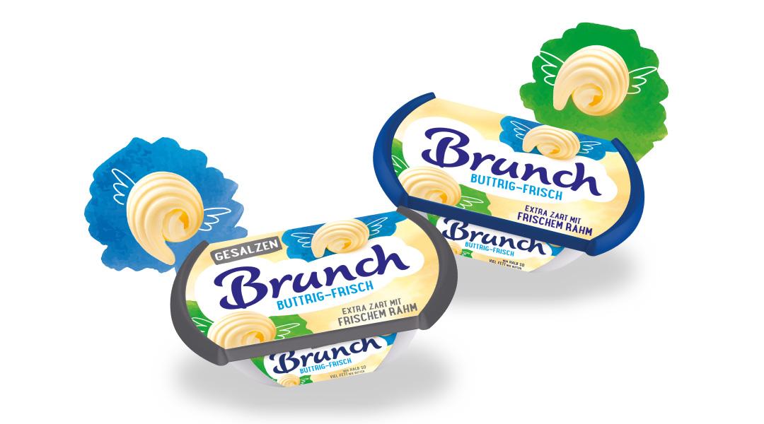 Das neue Brunch Buttrig-Frisch ist jederzeit leicht streichbar und lädt zweifach zum abwechslungsreichen Genießen ein – in der gesalzenen oder ungesalzenen Variante.