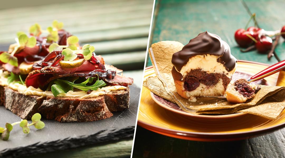 Brunch sorgt für doppelte Abwechslung auf Deinem Teller: Klassisch aufs Brot gestrichen, in herzhaften Sandwichkreationen oder in vielen, kreativen Backrezepten.