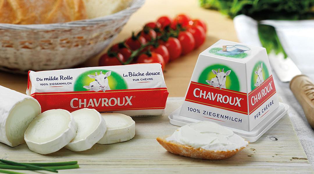 """Mit seinem fein-dezenten Geschmack bietet Chavroux (gesprochen """"Schawru"""") Liebhabern und Neuentdeckern von Ziegenkäse besonders milden Genuss."""