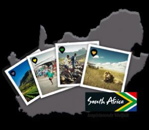 Südafrika - Karte und Polaroids