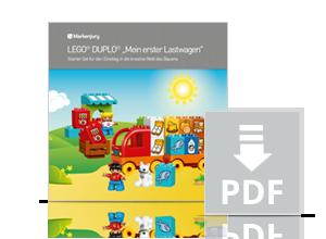 Handbuch zu Markenjury-Aktion mit LEGO DUPLO Spielzeug.