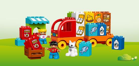 """""""Mein erster Lastwagen"""" ist eins von vier neuen LEGO DUPLO Starter Sets, die Schlüsselkompetenzen der Zukunft fördern können."""