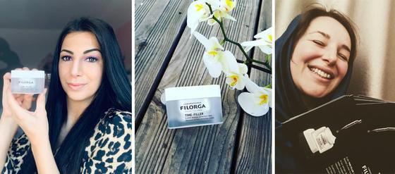 Strahlende Gesichter, schöne FILORGA-Tiegel, verteilte Flyer: unsere Teilnehmer machen FILORGA bekannt.