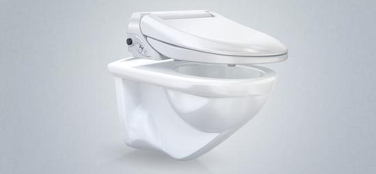 Geberit AquaClean kann einfach auf der bestehenden WC-Keramik installiert werden.