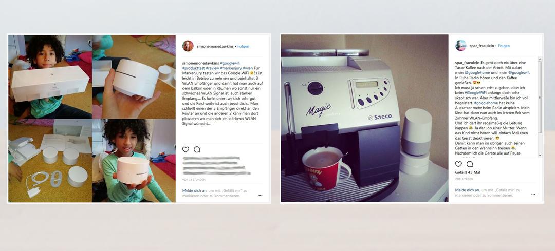 Wir teilen unsere Highlights sowohl in sozialen Netzwerken wie z. B. auf Instagram oder Facebook, ...