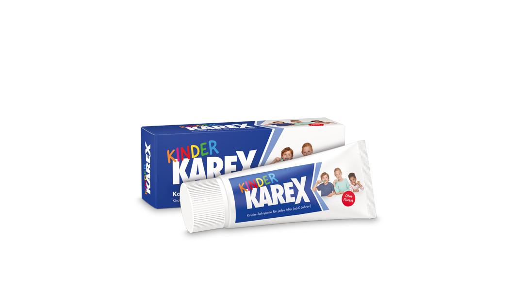 Kinder Karex Zahnpasta von Dr. Wolff bietet neuartigen Kariesschutz für jedes Alter – mit dem zahnverwandten Wirkstoff Hydroxylapatit und ganz ohne Fluorid.