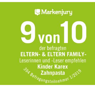Das Urteil der Markenjury zu Kinder Karex.