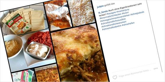 ... oder auf Instagram - Es gibt viele Möglichkeiten, KNORR Natürlich Lecker! bekannt zu machen!