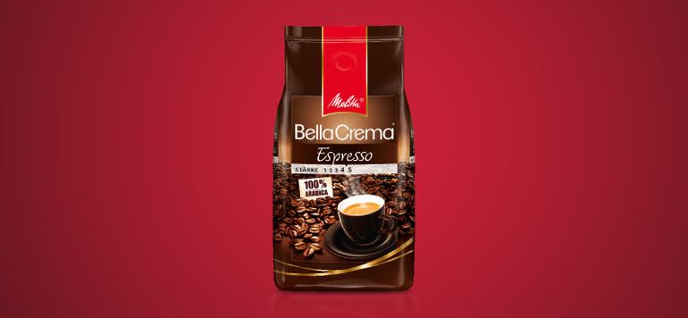 """... """"Espresso"""" ist mit seiner dunklen, espressotypischen Röstung die ideale Basis für den klassischen Espresso."""