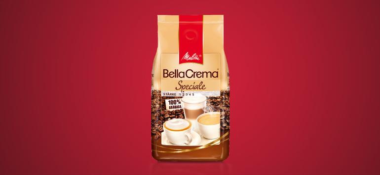 """... weiteren BellaCrema Sorten: """"Speciale"""" ist die mildeste Sorte mit leichtem Charakter, …"""