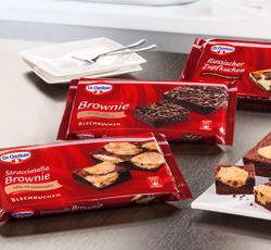 Dr Oetker Stracciatella Brownie Saftiger Blechkuchen Mit