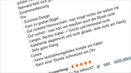 Web-Reporterin Larissa hat ihre Meinung auf idealo.de hinterlassen und den Philips Kopfhörer 5 Sterne gegeben.