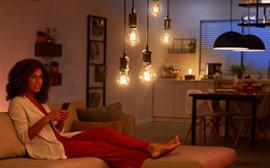 Intelligente LED-Lampen im Vintage-Design