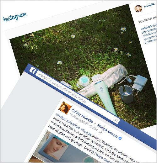 Philips VisaPure in sozialen Medien.