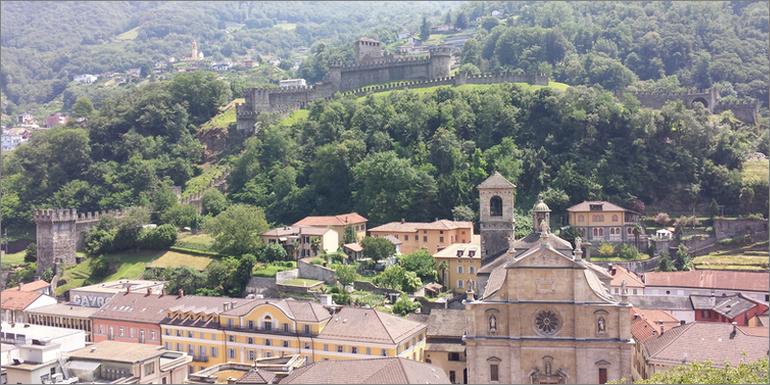 Burgen in Bellinzona, Tessin