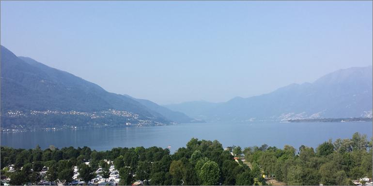 Ausblick auf den Lago Maggiore, Tessin