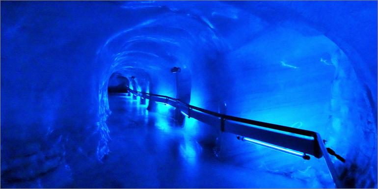 Die Gletschergrotte auf dem Titlis, Luzern