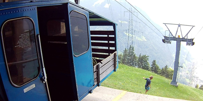 Gondelfahrt auf den Oberaxen, Luzern