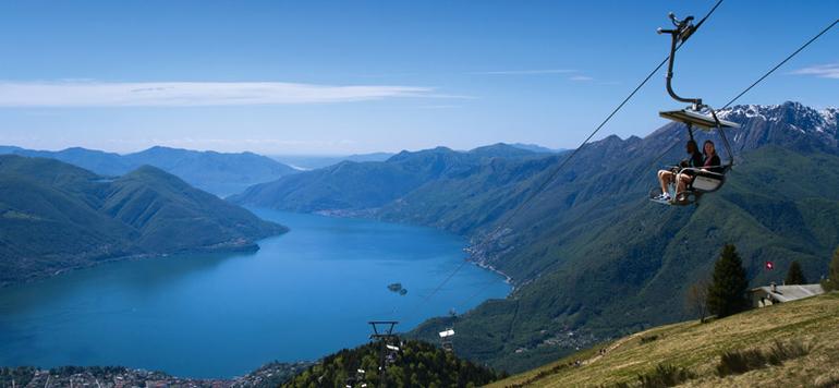 In der Region Tessin liegt unter anderem der schöne Lago Maggiore.