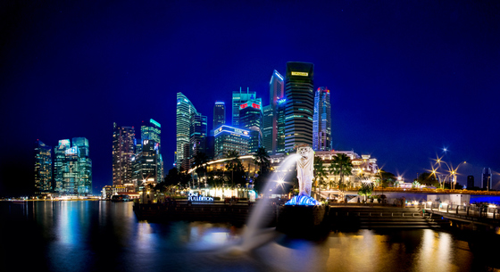 Skyline von Singapur.