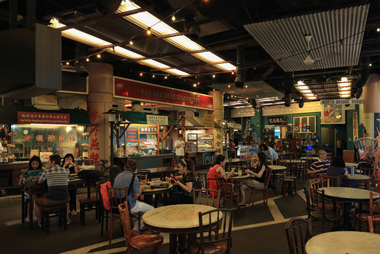 Hawker-Center in Chinatown