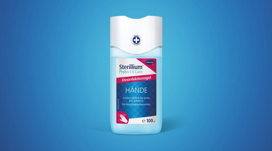 Das Sterillium<sup>®</sup> Protect & Care Desinfektionsgel bietet Ihnen unterwegs sowie zu Hause schnell wirksamen und professionellen Schutz vor Bakterien, Viren und Co.