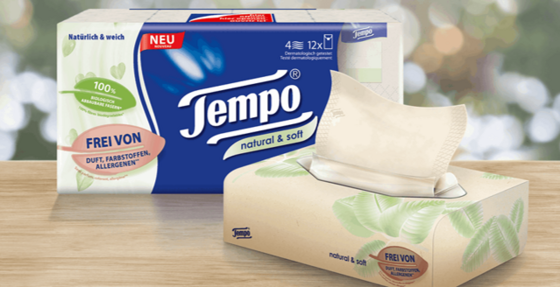 Tempo natural & soft in der Markenjury-Aktion