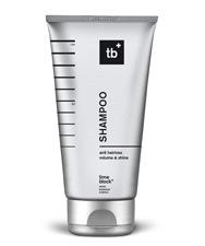 Das timeblock<sup>&reg;</sup> SHAMPOO reinigt schonend und versorgt die Kopfhaut bereits während der Haarwäsche mit verjüngenden, zellaktiven Wirkstoffen. Die pflegenden Inhaltsstoffe bauen Sprungkraft und Volumen auf und verleihen dem Haar Geschmeidigkei