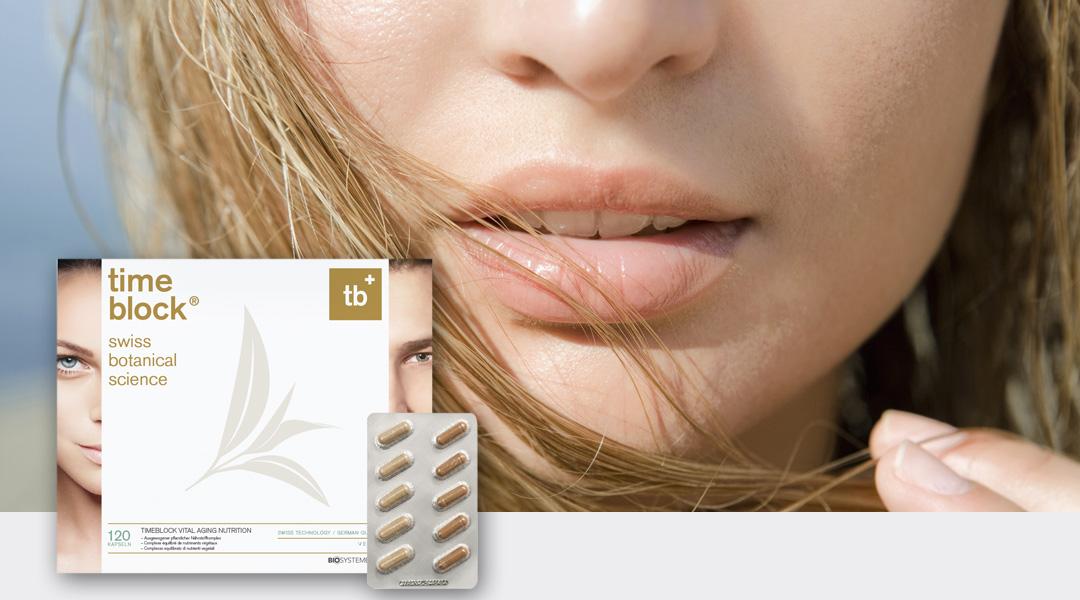 timeblock® versorgt Sie mit pflanzlichen Extrakten, Vitaminen und Mineralien. Die Tagesdosis entspricht ca. 5,95 kg Rohkost und drei Litern grünem Tee.