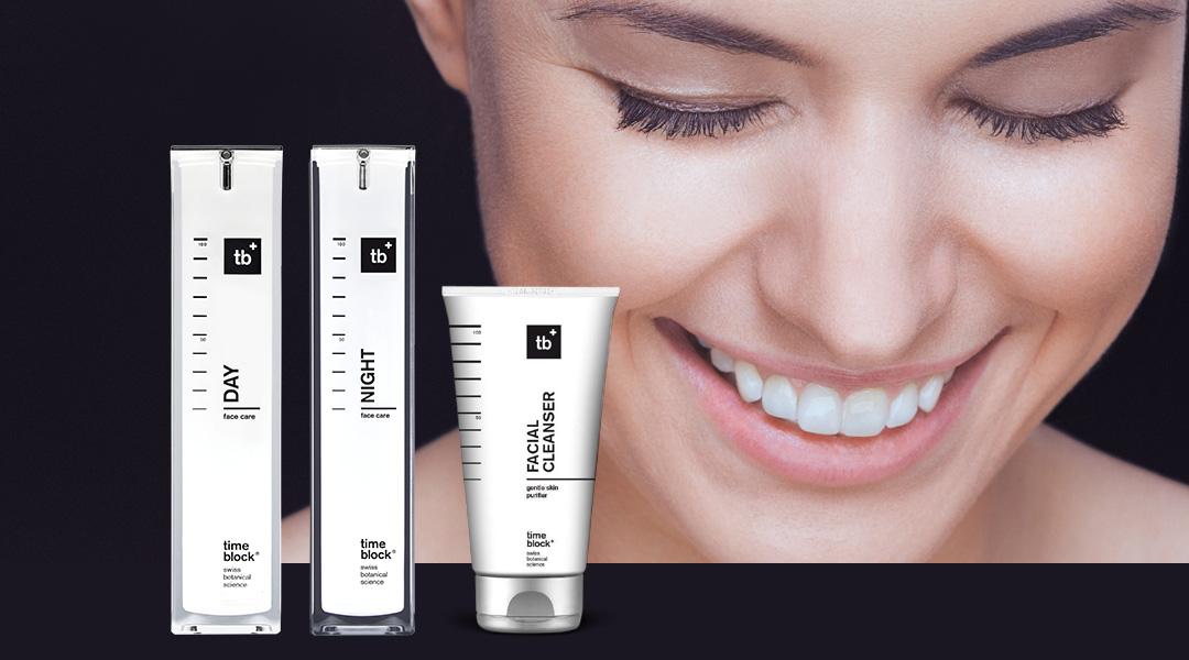 Die timeblock® Wirkstoffkosmetik bietet keinen kurzfristigen Effekt, sondern verschönert die Haut bei regelmäßiger Anwendung langfristig. Dazu dringen die Gesichtspflege Emulsion für den Tag sowie das Face Care Fluid für die Nacht tief in die Haut ein und